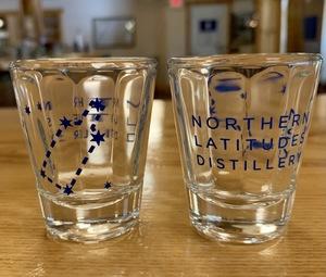 logo shot glass $4.50
